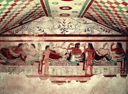 A Etruscan banquet scene